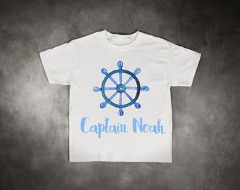 Personalised Captain T Shirt, Captain Kids T Shirt, Boys Captain Shirt, Kids T Shirt, Boys Shirt, Personalized T Shirt