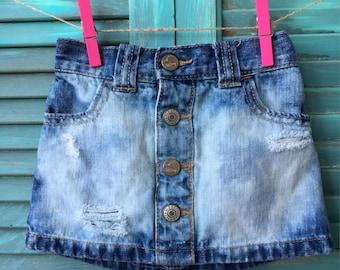 12/18 month distressed denim skirt