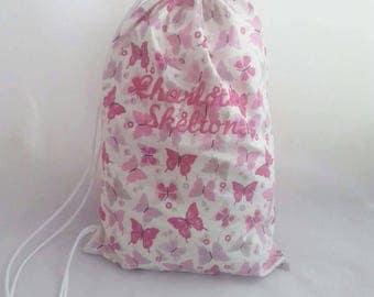 Personalised drawstring bag, sports bag, gym bag, yoga bag, school bag, shopping bag, embroidered shoulder bag, children's bag