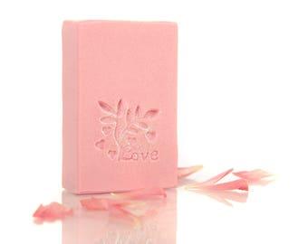 Handmade Soap with Shea Butter - Rose Quartz Fragrance