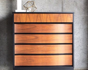 hardwood bedroom furniture. Mid Century Modern Chest of Drawers  Bedroom furniture Etsy