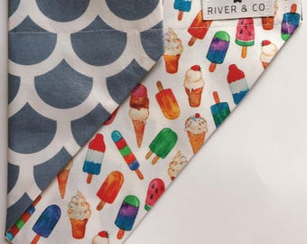 Ice-cream | Reversible Dog Bandana