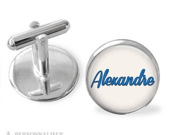 1 pair names is and customizable color cuff links