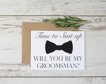 Funny Groomsman Proposal Card Template // Adult Humor // Suit Up // Groomsmen // Groomsman // Digital Download // Printable
