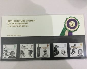 20th Century Women Of Achievement Royal Mail Mint Stamps Presentation Pack 1996