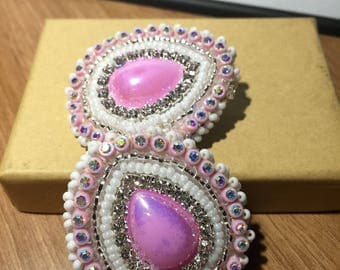 Pink Pearl Iradesent earrings