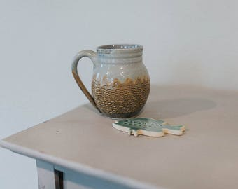 Wheel Thrown Textured Coffee Mug