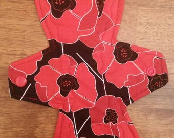 "10"" Red Poppies Flower cloth pad"