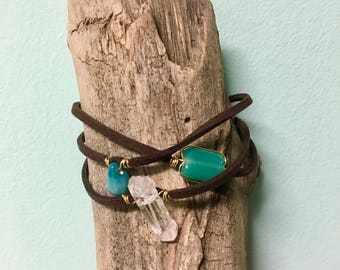 Leather Layered Bracelet
