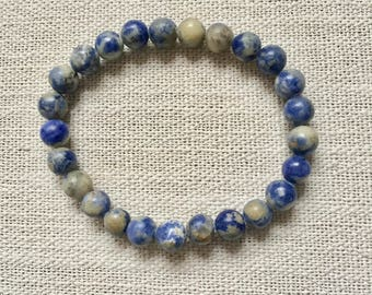 8MM Blue Stone Mens' Bracelet