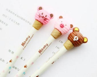 Kawaii Lovely Bear Pig Cat Baby Gel Pens ~ Cute Bear Pens, Kawaii Stationery, DIY, Planner Accessories, Kids Pens, Writing Tool, School Pens