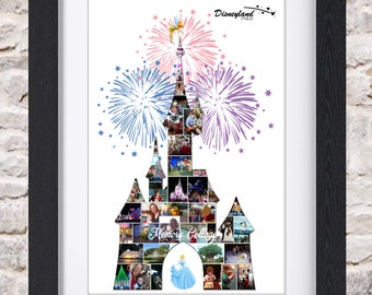 Sleeping Beauty Castle Wall Art Digital or Fine Art Photo Collage
