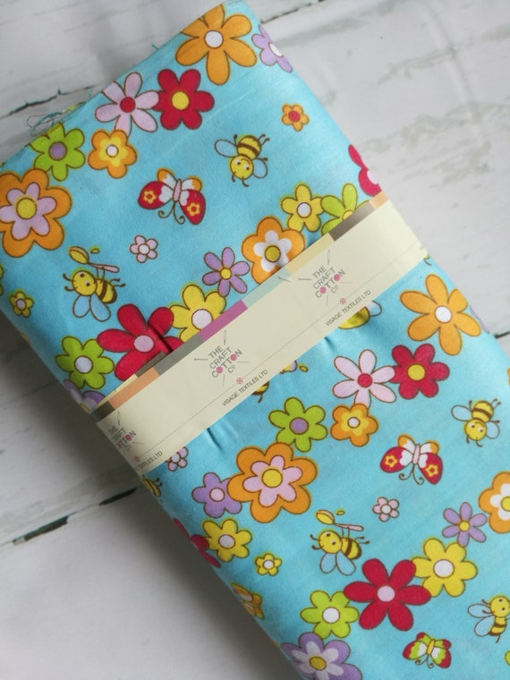Bee fabric bumble bee fabric baby bee fabric childrens for Childrens fabric