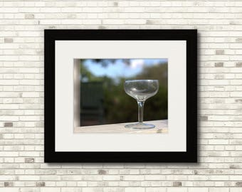 Solo Wine Glass   Artistic Outdoor Print   11x14 - FREE SHIPPING!