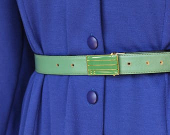 1980s Italian Belt, Country Casuals Belt, Genuine Leather
