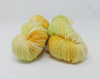 Fizzy Pop - 4ply Spark hand dyed yarn – Superwash 75/20/5% Merino / Nylon / Lurex