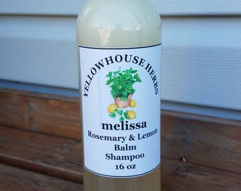 Melissa Shampoo with Rosemary and Lemon Balm