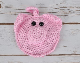 Pretty In Pink Pig Scrubby