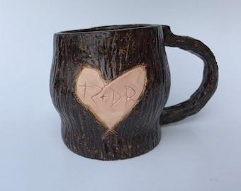 Personalized Faux Wood Cermaic Mug