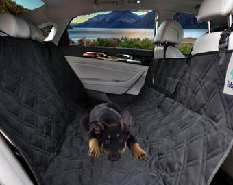 Petsy Fancy Pet Seat Cover for Cars,Trucks and Suv's - Black, Hammock, Waterproof, 55''W x 57''L