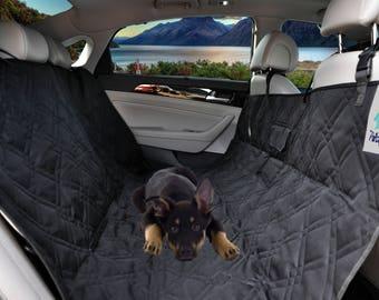 Petsy Fancy Pet Seat Cover for Cars,Trucks and Suv's - Black, Hammock, Waterproof, 55''W x 57''L
