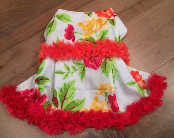 Tropical Punch Dog Dress Size Small