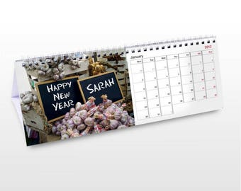 Personalised Food Desk Calendar Gifts Ideas For Lovers Eating Kids Childrens Boys Girls Mens Womens