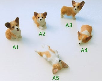 Corgi Mini Desk or Car Decoration Ornaments
