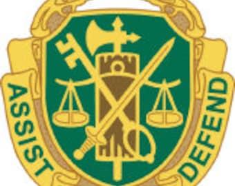 Military Police Emblem Cross Stitch Pattern