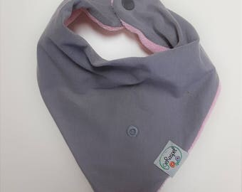 Waterfall cloth grey/pink * with Mixeeze *.