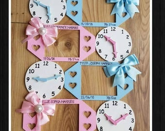 New baby keepsake memory clock in this moment time stood still