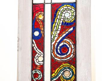 Mosaic antique window