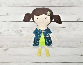 Rag Doll, Soft Doll, Handmade Doll, Fabric Doll