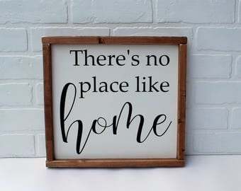 There's no place like home wood sign, home sign, housewarming, wedding gift, first home gift, new home gift, rustic home gift, farmhouse