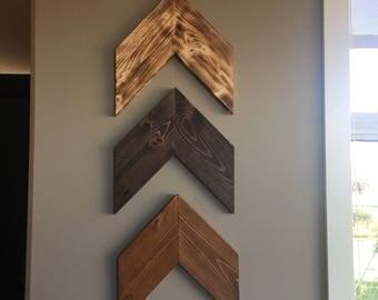Wooden Chevrons Arrows, Nursery Wall Hanger, Wall Art Decor