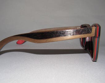 Custom Polarized Wood Sunglasses