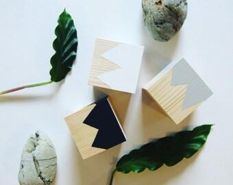 Mountain Wooden Blocks Set of Three.