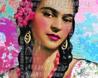 Quilt Fabric Frida Kahlo Long Braids Arts Crafts Sewing Applique Cotton FK231