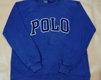 Vintage Polo Ralph Lauren Sweatshirt/Polo Big Logo