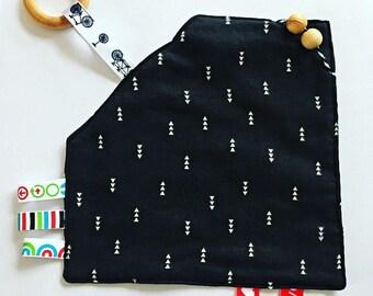 Sensory Toy   Teething   Ribbon Blanket   Snuggle Blanket   Chew Toy   Baby Gift   Teething Toy   Security Blanket   Lovey  