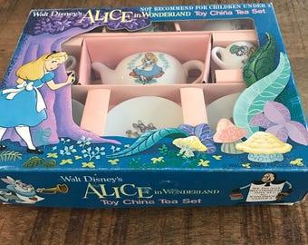 Brand New in Box, Disneyland 1980's Alice in Wonderland Toy China Tea Set