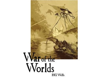 T-SHIRT: War Of The Worlds / HG Wells - Classic T-Shirt & Ladies Fitted Tee - (LazyCarrot)