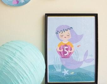 Lámina decorativa - Sirena Mágica