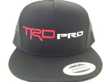Yupoong toyota TRD PRO tacoma tundra 4runner fj cruiser black hat cap snapback