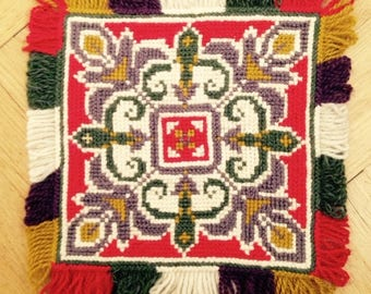 Swedish Embroidered Tapestry or Cloth