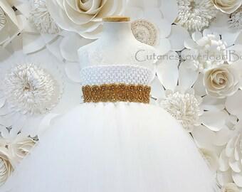 Off White Wedding Girl Dress-Off White Girl Dress-Off White Tutu-Off White Tulle Dress-Off White Flower Girl Dress-Off White Toddler Dress.