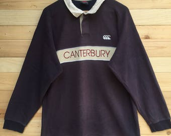 Rare!! Vintage Canterbury of New Zealand Rugby Shirt Size Large