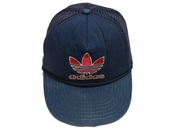 Rare!! Vintage Adidas Trefoil Trucker Cap Snapback One Size Fits All
