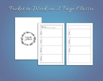 Pocket Week on Two Page Classic TN