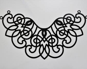 Metals, Die Cut, Enameled Aluminum, Collar, 62 x 106mm, Sku B33037c